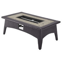 """Splender 43.5"""" Rectangle Outdoor Patio Fire Pit Table"""
