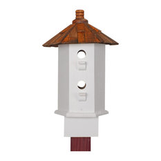 Handmade Song Birdhouse Shake and White