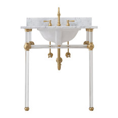 """Empire 30"""" Wash Stand and P-Trap, Gold"""