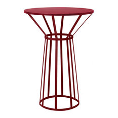 Petite Friture - Petite Friture Hollo Table for Two, Burgundy - Garden Bistro Tables