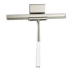 Linea Luxury Shower Squeegee, Brushed Nickel/Stainless Steel