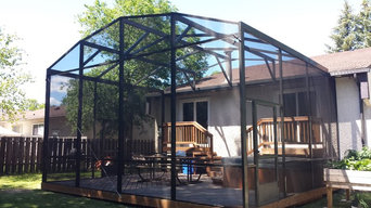 18'x22' Attached to home dome screen room