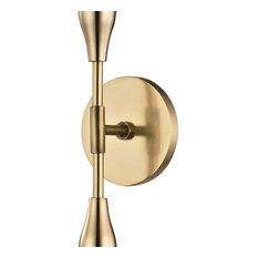 Tara 2-Light Wall Sconce, Finish: Aged Brass
