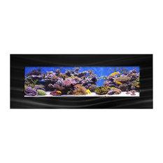 Aussie Aquariums 2.0 Wall Mounted Aquarium - Vista - Brushed Black