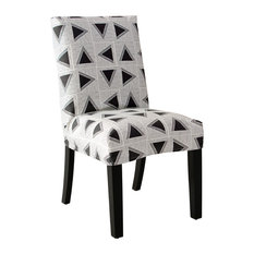 63-6 with a slipcover in Triangle Tile Black White