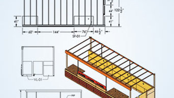 Custom Millwork Shop Drawing with details