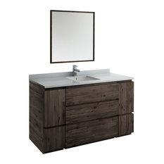 "Fresca Formosa 60"" Floor Standing Single Sink Mirror FVN31-123612ACA-FC"