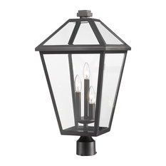 Talbot 3 Light Post Light or Accessories in Black