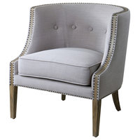 Uttermost Gamila Light Gray Accent Chair