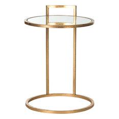 Calvin End Table, Gold, Mirror