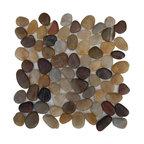 "12""x12"" Cobblestone Multicolored Flat Finish Tile, Single Sheet"