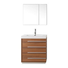 "Bailey 30"" Single Bathroom Vanity Cabinet Set, Plum"