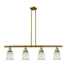 "Innovations 4-LT Canton 48"" Adjustable Island-LT - Brushed Brass"