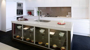 Kitchen - Coloured Glass Splashback