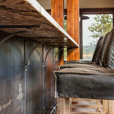 Home design - rustic home design idea in Denver