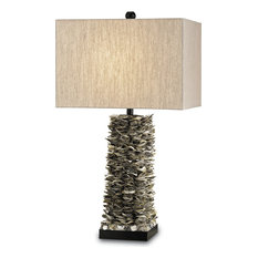Villamare Table Lamp, Natural, Satin Black