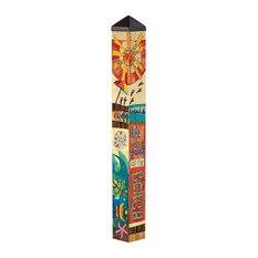 Peace, Love, and Sunshine 3' Art Pole