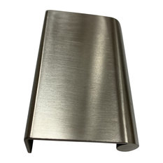 """Solid Brass Edge Pull 2.5""""x1.5"""", Satin Stainless Steel"""