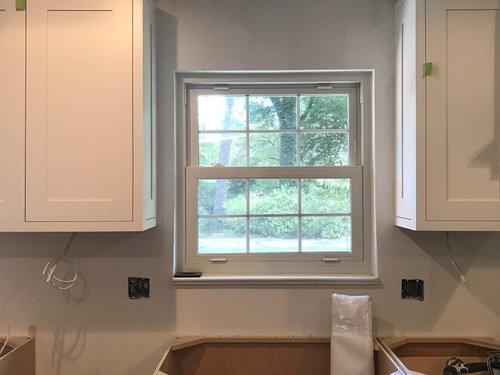 Tile or not around window above kitchen sink