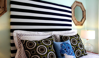 DIY Stripe Headboard
