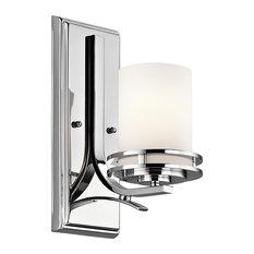 Elegant Bathroom Wall Light , Polished Chrome