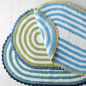 Tybee Stripe Cotton Bath Rug