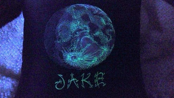 Lunar Light Glow in the Dark Personalized Moon Throw Pillow {14 inch}