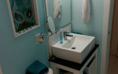Reader Bathroom: A Diver's DIY 'Mermaid Glam-Shell'