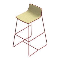 Mina Cream Upholstered Bar Stool, Brick Frame