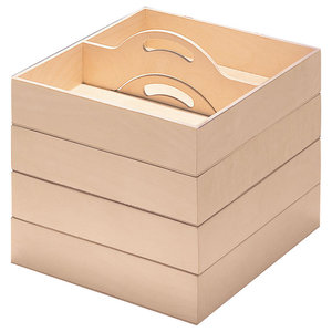 Kiste Wooden Box Trays, Set of 4