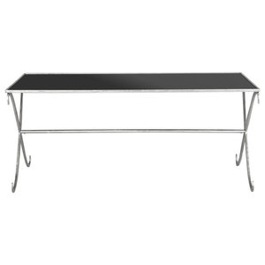 Safavieh Parker Coffee Table, Silver and Black