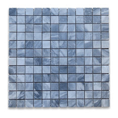 """12""""x12"""" Bardiglio Gray Square Mosaic Tile Honed, Chip Size: 1""""x1"""""""