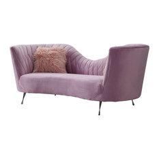Eva Velvet Sofa, Blush