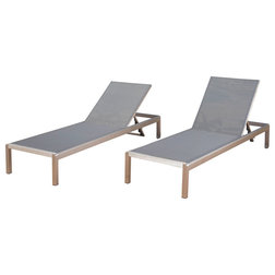 Contemporary Outdoor Chaise Lounges by GDFStudio