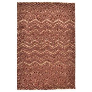 Wool Design Herringbone Rug, Brown, 160x230 cm
