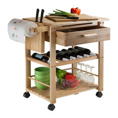 Winsome Finland Kitchen Cart In Natural
