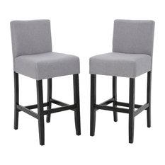 GDFStudio - Ester Modern Fabric Barstool Set of 2 Light Gray - Bar Stools  sc 1 st  Houzz & Upholstered Bar Stools and Counter Stools | Houzz islam-shia.org