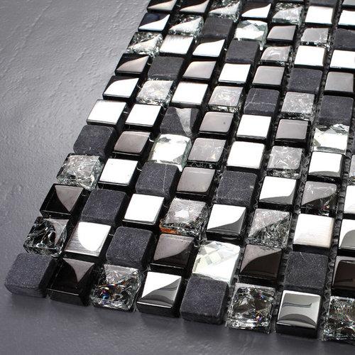Stone Marble Mosaic Ks66b Stainless Steel Tile Backsplash