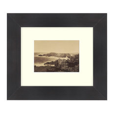 """Coast Off Mendocino"" Sepia Tone Framed Photo, 16""X24"""