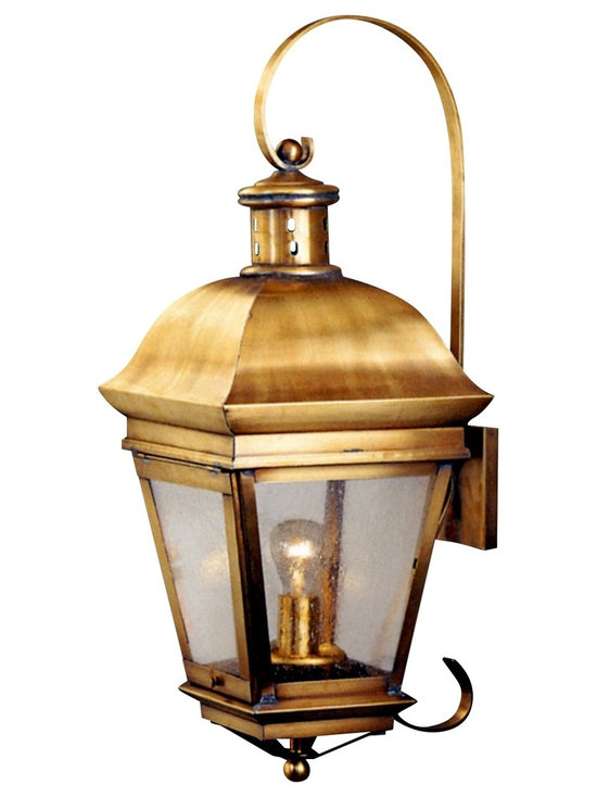 Lanternland   American Legacy Wall Light Copper Lantern With Bracket And  Scroll   Outdoor Wall Lights