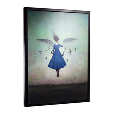 """""""Swift Encounter"""" by Duy Huynh Framed Canvas 40""""x30"""""""