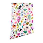 Deny Designs Stephanie Corfee Garden Baby Wallpaper, White, 2'x10'