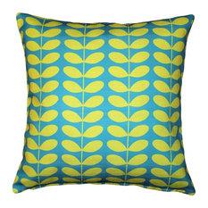 Pillow Decor - Mid-Century Modern Turquoise Throw Pillow 20x20