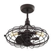 Havana 3-Light Ceiling Fan, Aged Bronze