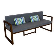 Outdoor 3-Seat Munich Sofa, Bronze