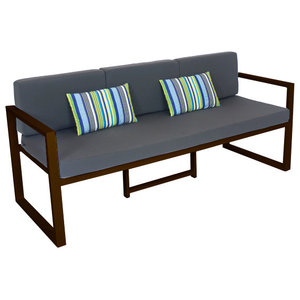 Outdoor 3-Seat Munich Sofa, Bronze