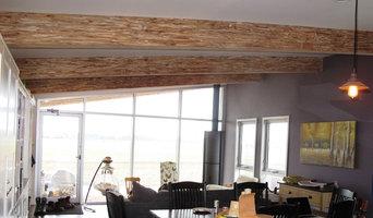 River John Modular Home - Exposed Paralam Beams - Family Room