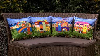 Caravan Holiday Premium Plush Cushion Covers