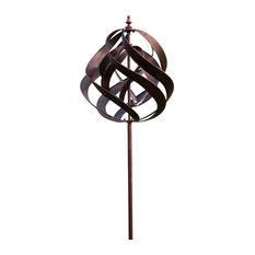 Saturn Copper Steel Wind Sculpture