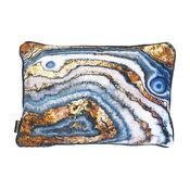 """Oliver Gal """"Bleu Agate"""" Pillow, 14""""x20"""""""